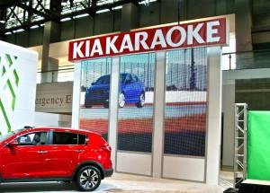 Kia Karaoke stage