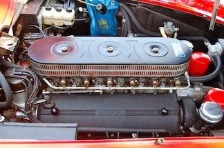 Ferrari engine compartment