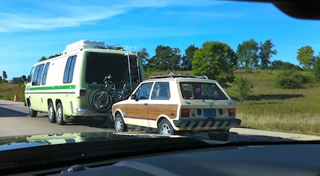 GMC motorhome with Yugo