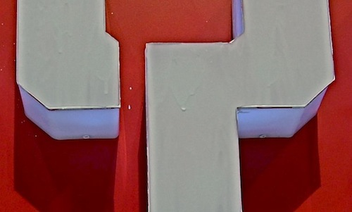 BYD sign detail