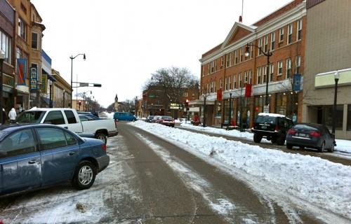 Windrow in downtown Beloit