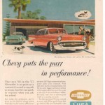 1957 CHEVROLET CORVETTE ad