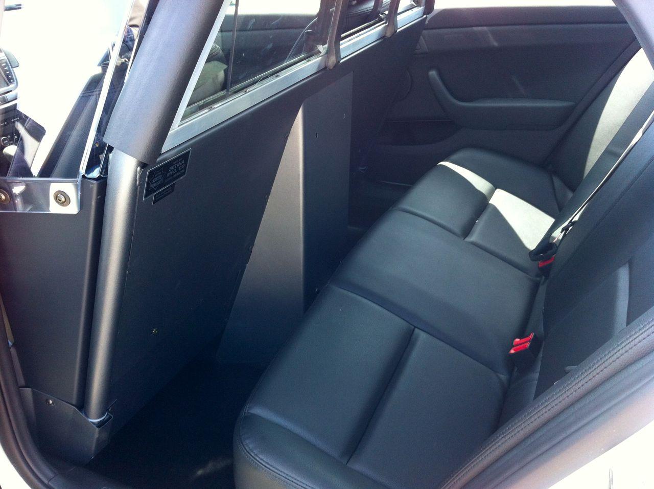 Caprice rear seat area