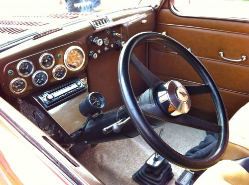 Interior of Austin hot rod
