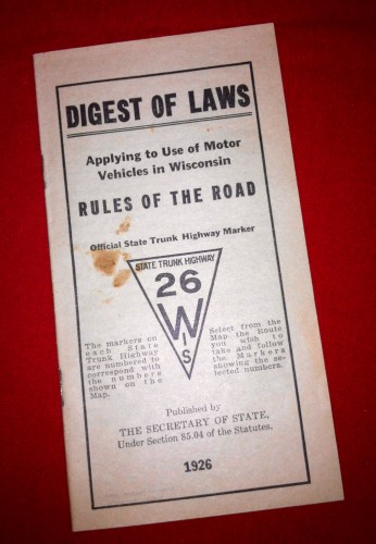 1926 Rules of the Road