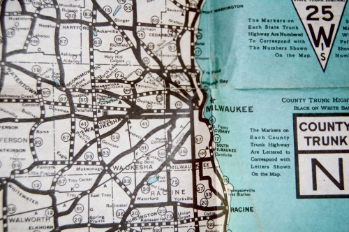 Milwaukee on 1925 map