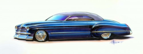 Chip Foose's original design for Hot Rods by Boyd
