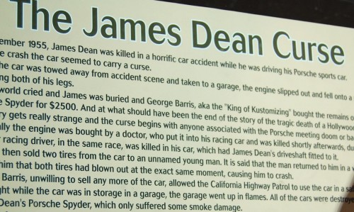 james dean curse