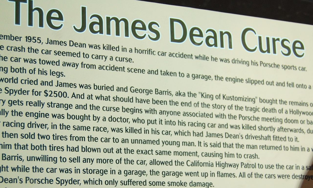 James Dean Crash Photos Body
