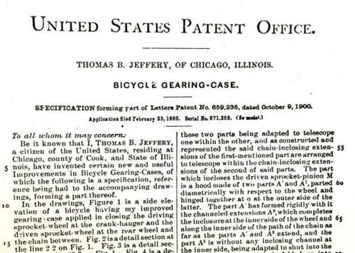 Jeffery patent