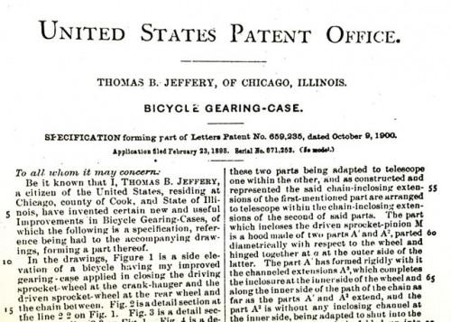 Jeffery patent