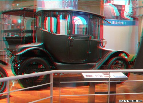 Clara (Mrs. Henry) Ford's Detroit Electric. Clara didn't like the noise and smell of gasoline cars. Henry even had an electric runabout boat made for her use, which he would use himself to sneak down the Rouge River to his mistress, Evangeline Dahlinger.